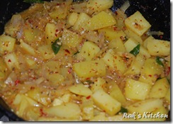 Cook with masala and water